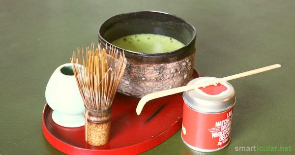Müde? Ausgelaugt? Gestresst? Gönne dir eine Auszeit und bereite einen gesunden Matcha-Tee zu. Ein vitaminreiches und belebendes Getränk mit langer Tradition