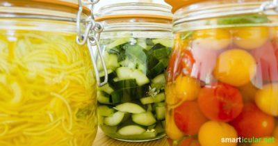 Tomaten, Zucchini, Gurken wohin das Auge blickt! In der Erntezeit werden wir von frischem Gemüse überschwemmt. So machst du es für den Winter haltbar!