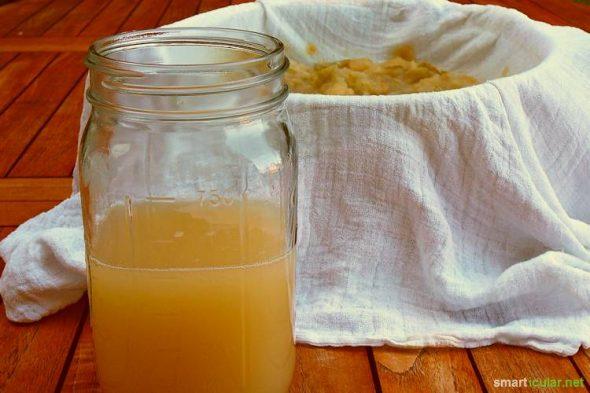 Marmeladen und Gelees ohne Gelierzucker? Apfelpektin ist eine Lösung. Aber warum Pektin kaufen, wenn du es einfach aus Fruchtresten selbst herstellen kannst