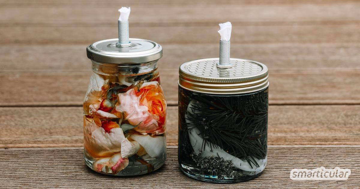 Duftende Pflanzenöl Kerzen Aus Schraubgläsern Basteln