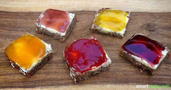 Obstaufstriche brauchen viel Zeit und viel Zucker? Das muss nicht unbedingt sein. Mit diesem Rezept stellst du zuckerfreie Brotaufstriche ohne kochen her!