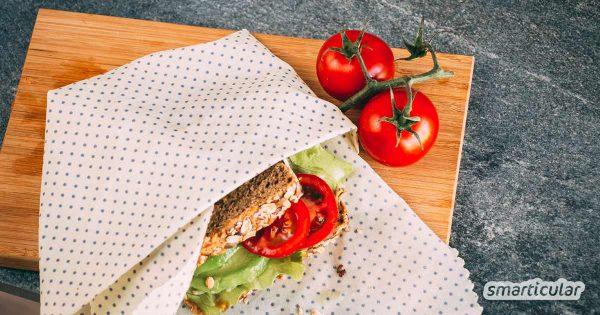 Wer Plastik vermeiden will, kann ganz einfach auf Frischhaltefolie verzichten. Mit selbst gemachten Wachstüchern lassen sich Lebensmittel ebenso gut aufbewahren und transportieren.