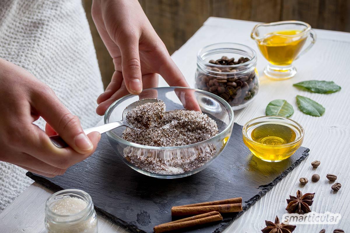 Ein natürliches Peeling selber zu machen, ist nicht schwer! Mit pflegenden Küchenzutaten stellst du ein gesundes und preiswertes Peeling schnell zusammen.