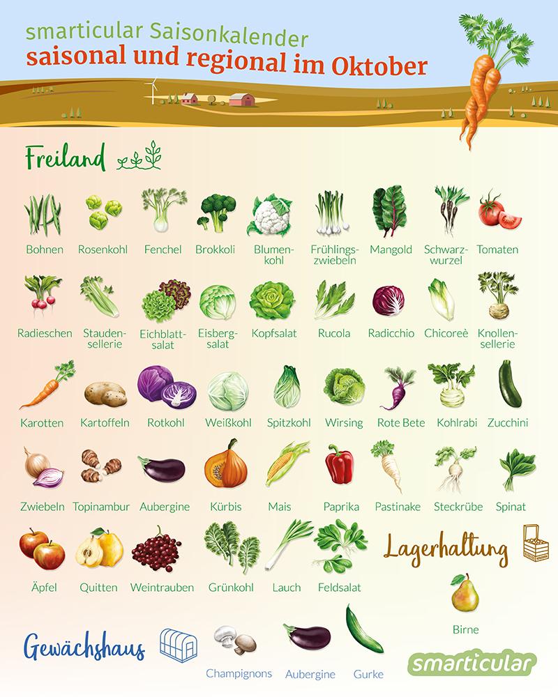 Obst Gemüse Regional Und Saisonal Einkaufen Im Oktober