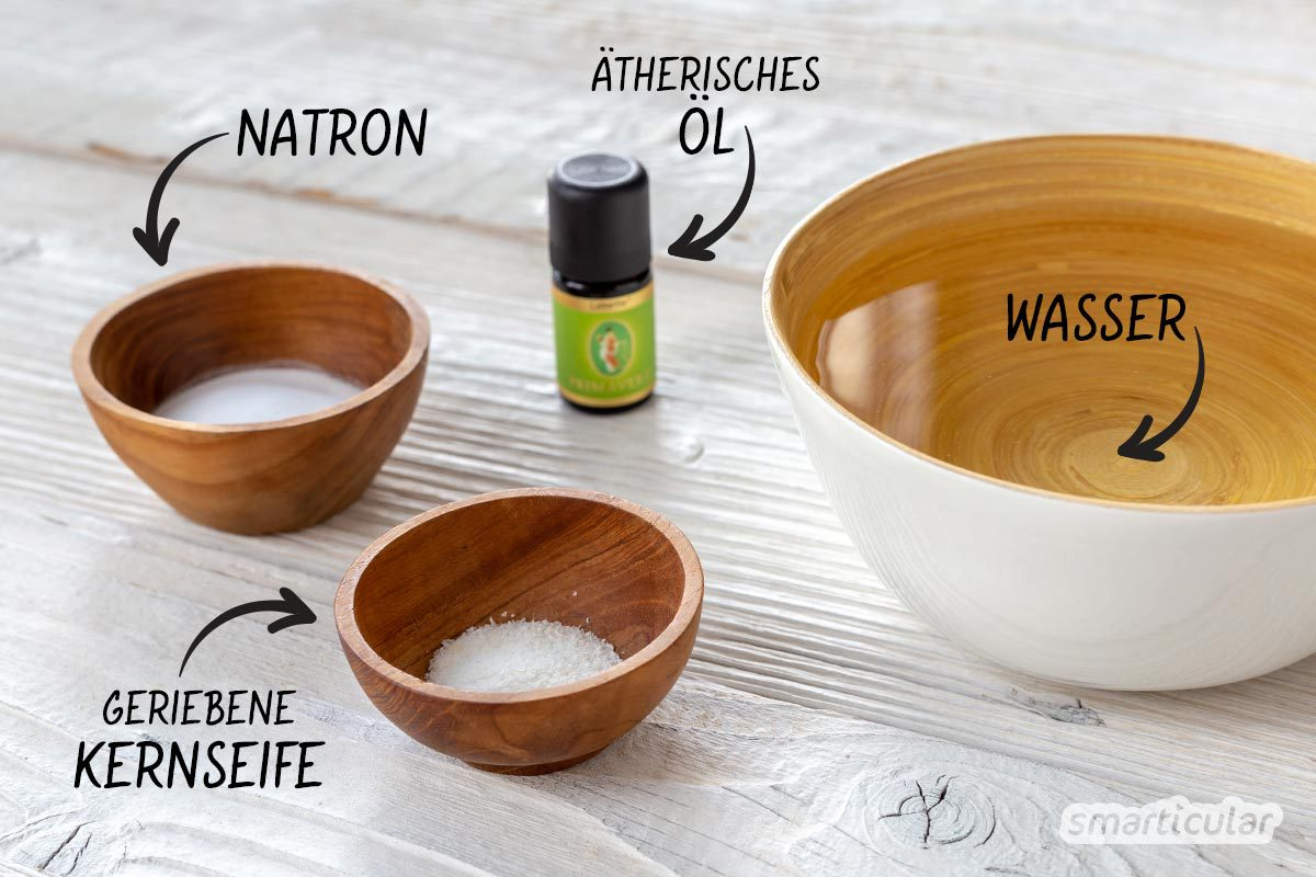 Mit wenigen Schritten und preiswerten Zutaten kannst du schnell dein eigenes Geschirrspülmittel herstellen. Es lohnt sich dieses einfache Rezept zu testen!