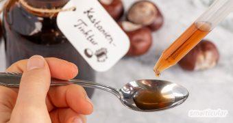 Die Rosskastanie ist ein wirksames Heilmittel gegen Rheuma, Krampfadern, Hämorrhoiden und viel mehr. So stellst du die heilende Kastanien-Tinktur her!