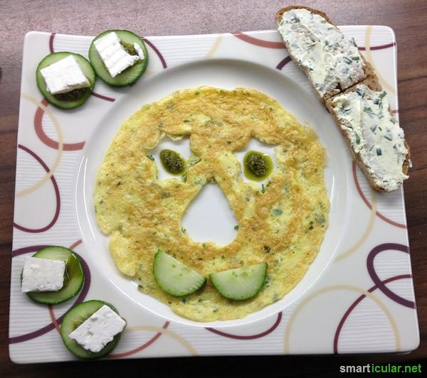 Kinder brauchen besonders viele gesunde Vitalstoffe. Damit das was gesund ist auch gegessen wird, helfen lustige Kreationen und das Essen macht Spaß