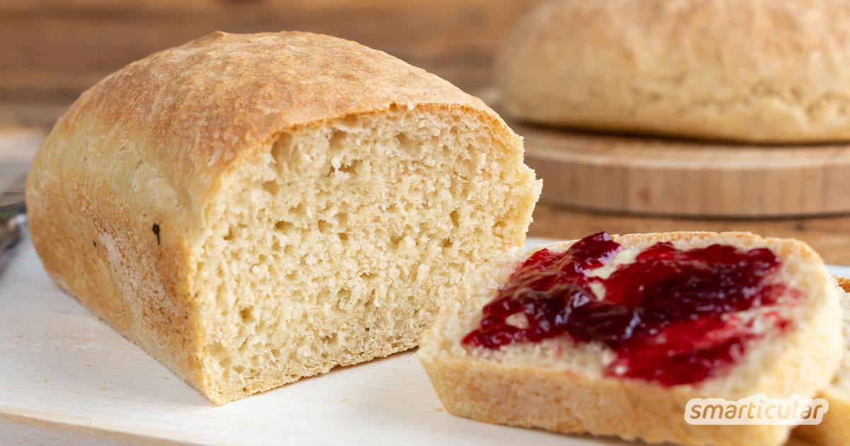 Ein schnelles Brot aus fünf einfachen Zutaten, das auch noch richtig lecker schmeckt! Mit diesem simplen Rezept kommen auch Eilige zum backfrischen Genuss.