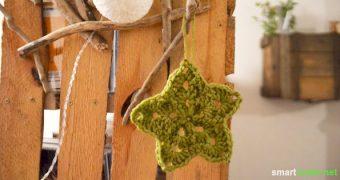 Bist du auch schon voller Vorfreude auf Weihnachten? Suchst du noch Deko-Ideen für Baum und Wohnung? Dann schau dir einmal diese gehäkelten Sternchen an!