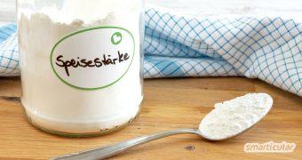 Viele Fertigprodukte basieren auf den Eigenschaften von Speisestärke. Deshalb kannst du Puddingpulver, Tortenguss und Co. leicht selber machen und jede Menge Müll sparen.