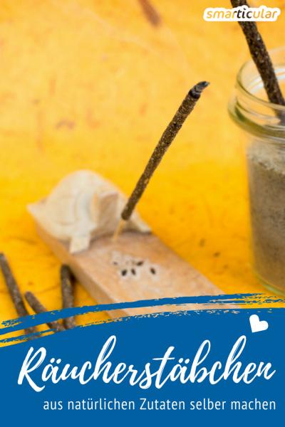 Das Herstellen von Räucherstäbchen ist einfach, schnell und macht Spaß. Kinderleicht kannst du aus natürlichen Zutaten ein persönliches Dufterlebnis zaubern