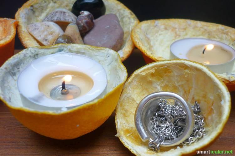 Dekoschalen Herstellen Aus Zitrusschalen Und Kokosnüssen