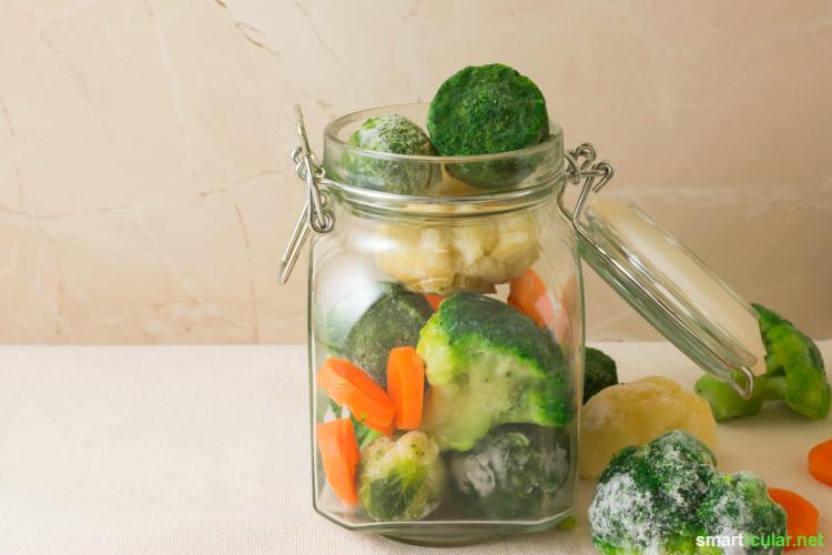 Beim Einfrieren von Lebensmitteln denkst du wahrscheinlich zuerst an Gefrierbeutel und Kunstoffbehälter. Es geht aber auch ohne - so funktioniert's!