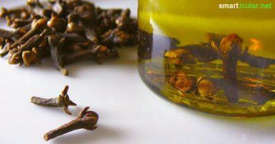 Auf eine Nelke mag man nicht gern beißen, dennoch ist sie ein sehr gutes Würzmittel und kann pur oder als Öl bei vielen gesundheitlichen Problemen helfen!