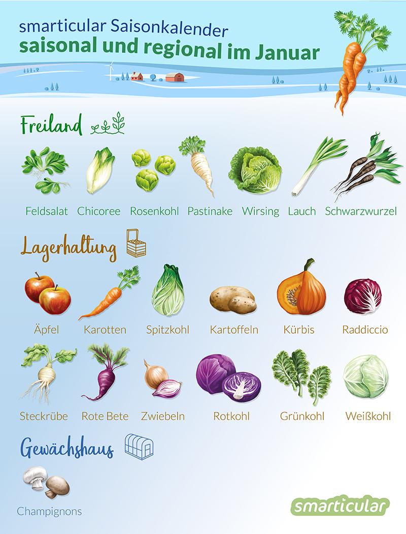 Obst Gemüse Regional Und Saisonal Einkaufen Im Januar