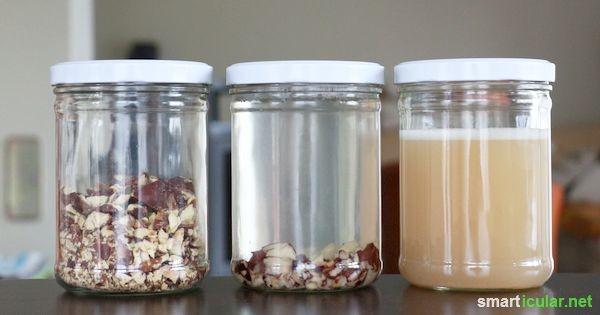 Putzmittel und Spülmittel mit Kastanien herstellen