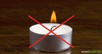 Teelichter aus Paraffin und in Alu-Hülle sind extrem billig zu kaufen aber alles andere als nachhaltig. Diese Alternativen solltest du stattdessen testen!