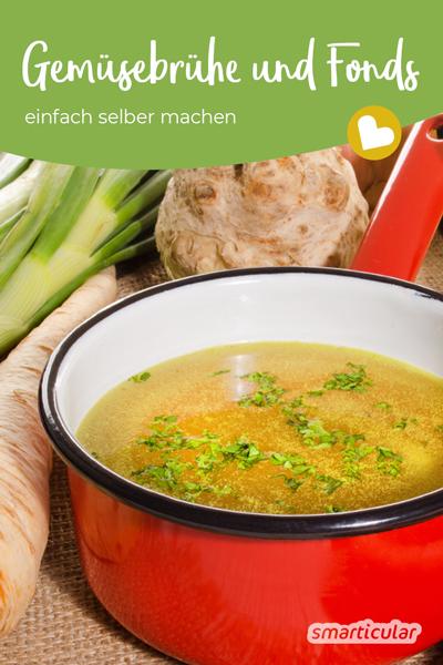 Statt sie fertig zu kaufen, lässt sich Gemüsebrühe ganz einfach selber machen. Für gesunden Genuss ohne Palmöl, Geschmacksverstärker und andere Zusatzstoffe.