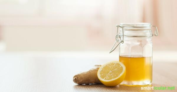 Ein Löffel Honig und ein Glas Wasser, ein einfaches aber sehr wirksames Mittel für deinen Körper.