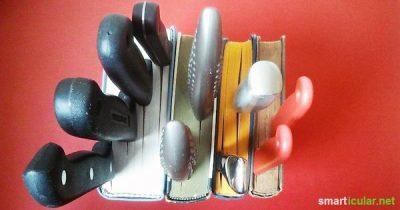 Hast du alte Telefonbücher oder beschädigte Schmöker, die keine Verwendung mehr finden. So stellst du ein schönes Küchenutensil mit ihnen her!
