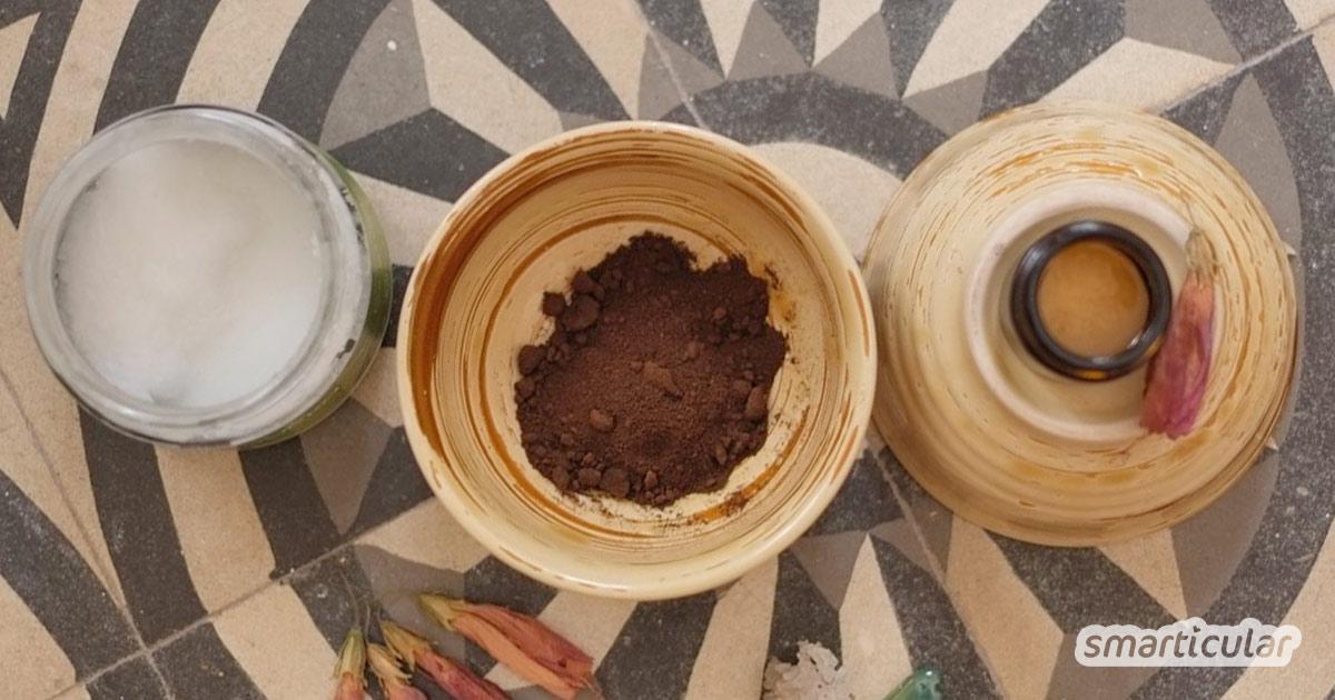 Kaffee macht nicht nur als Getränk munter. Das enthaltene Koffein aus Kaffeesatz kann müde Haut auffrischen und Augenringe reduzieren.