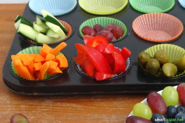 Kinde für Obst und Gemüse zu begeistern ist nicht immer leicht. Diese Bastelideen helfen, denn auch bei Kindern isst das Auge mit!