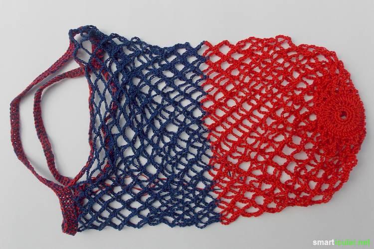 Einkaufskorb häkeln  Einkaufsnetz häkeln - selbstgemachte Alternative zur Plastiktüte