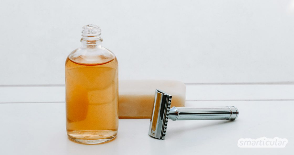 Dieses pflegende After-Shave kannst du leicht und schnell aus nur drei Zutaten selbst herstellen.