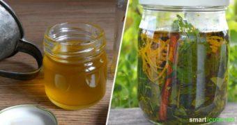 Ein Ölauszug mit deinen liebsten Heilpflanzen und Wildkräutern ist leicht herzustellen und kann vielseitig eingesetzt werden: als Massageöl, für Salben, Cremes, Seifen und viel mehr