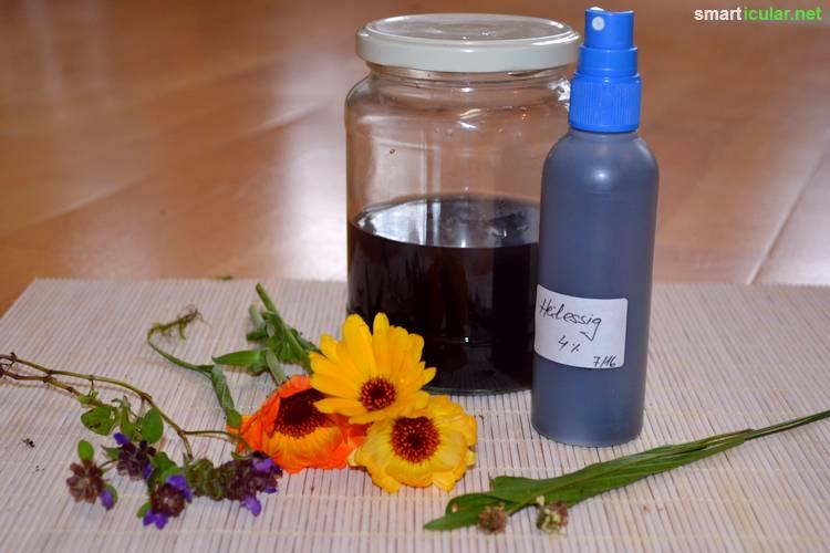 Diese Wildkräuter und etwas Essig helfen deiner Haut zu heilen und sich selbst zu regenerieren. Perfekt für Sonnenbrand und andere Hautprobleme!