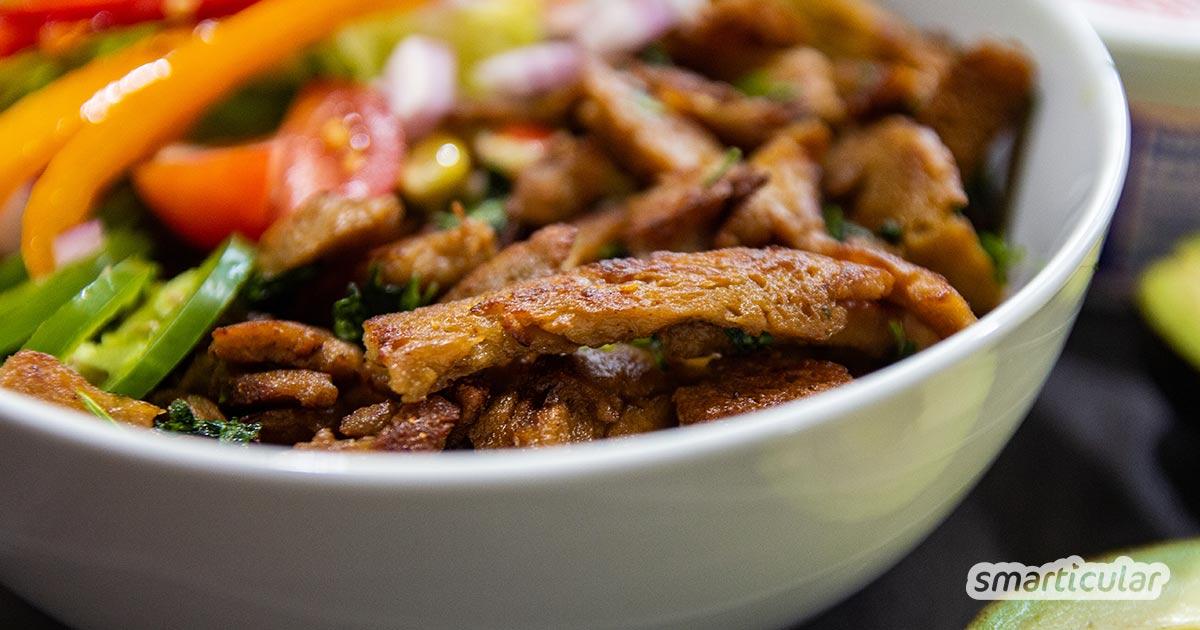 Eine regionale und vielseitige Alternative zu Tofu ist Seitan. So stellst du die traditionelle vegane Speise aus Japan leicht selbst her!