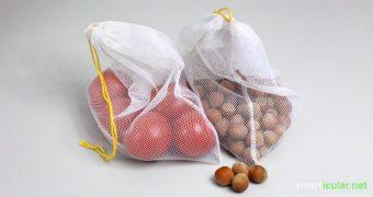 Was haben Umweltschutz und das Upcycling von Stoffresten gemeinsam? Finde die Antwort in dieser genialen Anleitung für selbstgenähte Obst- und Gemüsebeutel!