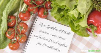 Gesünder und stressfreier Leben mit einem Wochenspeiseplan für die ganze Familie. Mit dieser Anleitung gelingt das Erstellen und die Einführung!