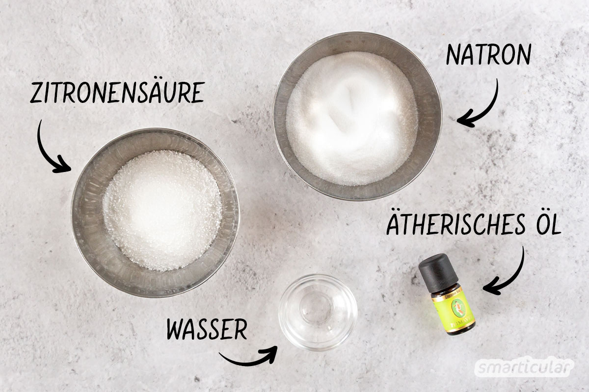 WC-Tabs selber machen: Aus Natron und Zitronensäure werden im Handumdrehen sprudelnde Tabs gegen Schmutz und unangenehme Gerüche.