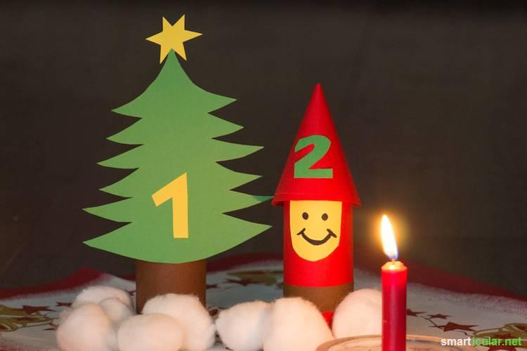 7 Ideen Fur Selbstgemachte Adventskalender Aus Klorollen