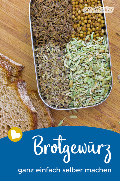 Schmeckt dein frisch gebackenes Brot zu fad? Verleihe ihm mit diesem Rezept für selbstgemachtes Brotgewürz ein kräftiges und volles Aroma!