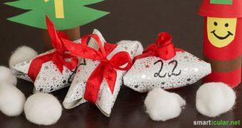 Du brauchst noch einen schönen und originellen Weihnachtskalender? Hier ein paar clevere Bastel-Ideen, zum upcycling von Toilettenpapierrollen.