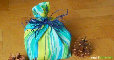 Schenken ohne Verpackungsmüll! Wie du aus alten Klamotten einen schönen Geschenkbeutel zauberst.