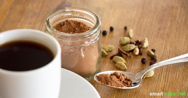 Kaffeegewürz selber machen - orientalischer Genuss statt Koffein und Zucker
