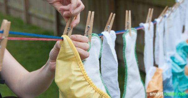 Herkömmliche Windeln verursachen riesen Müllberge und enthalten fragwürdige Inhaltsstoffe! Diese Alternativen sind gut für dein Baby und für die Umwelt.
