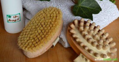 Cellulite-Killer: Tägliches Bürsten nach Kneipp sorgt für straffe Haut und eine starke Immunabwehr.