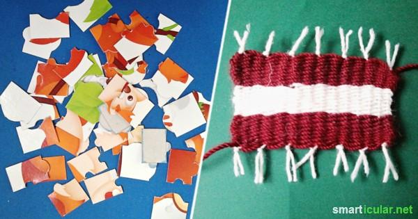 Für kleine Forscher und Bastler: Spannende und lustige Spiele aus alten Pappkartons.