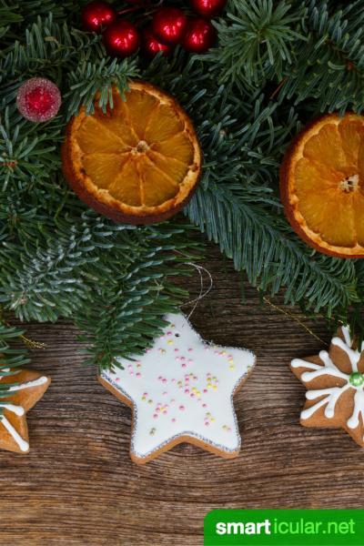 DIY-Weihnachtsschmuck aus Naturmaterialien, Papier und anderen preisgünstigen Alternativen.