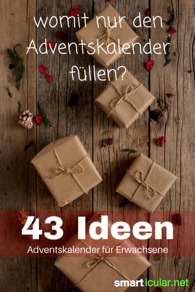 Suchst du Ideen zum Befüllen des Adventskalenders für Freundin oder Mann? Hier findest du einfache DIY-Geschenke und andere originelle Kleinigkeiten.