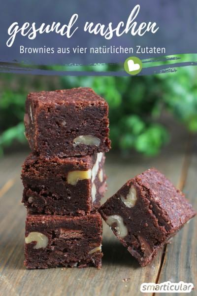 So geht Rohkost zum Genießen. Zehn-Minuten-Brownies aus Datteln, Nüssen und Kakao, glutenfrei und vegan.