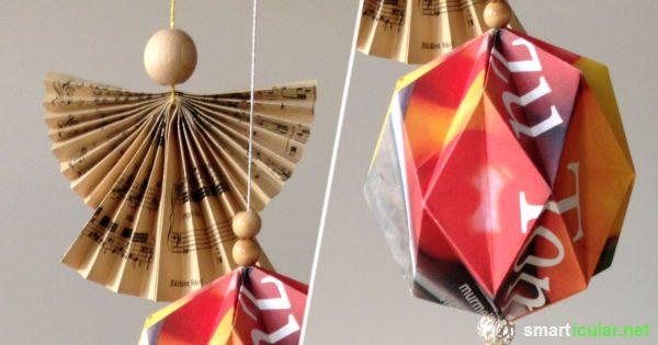 weihnachtsbaum schmuck aus papier selber falten 4. Black Bedroom Furniture Sets. Home Design Ideas