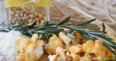 Wie du Amaranth-Popcorn und weitere Varianten des beliebten Knabber-Klassikers ohne Fett dafür mit viel Aroma preiswert selber machst.