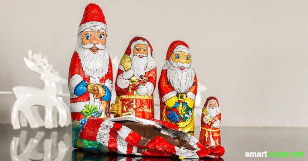 Zu viele Nikoläuse, um sie alle aufzuessen? Aus überschüssiger Schokolade kannst du feine Köstlichkeiten zaubern, die sich auch als Geschenke eignen.