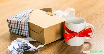 Was tun, wenn Geschenke nicht gefallen oder du sie einfach nicht gebrauchen kannst? Diese Tipps helfen weiter, damit es gar nicht erst dazu kommt.