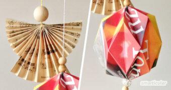 Hast du Lust auf einen kreativen, buntgeschmückten Weihnachtsbaum? Dieser Baumschmück ist schön, individuell und fast kostenlos.